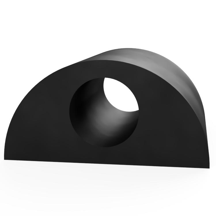 Round D with Round Centre Extrusion