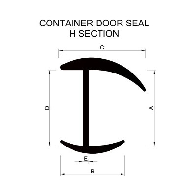 Container Door Seal H Section Extrusion