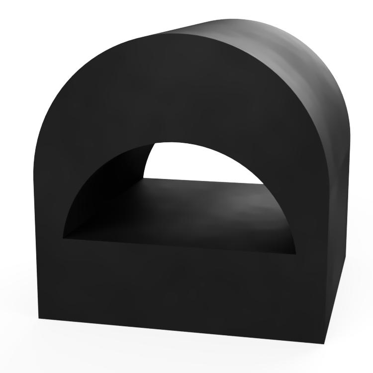 Square D with Round D Centre Extrusion