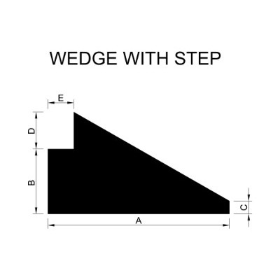 Wedge with Step Extrusion