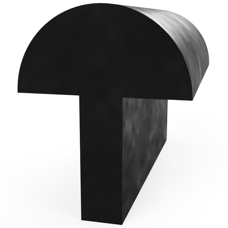 Domed T Section Extrusion