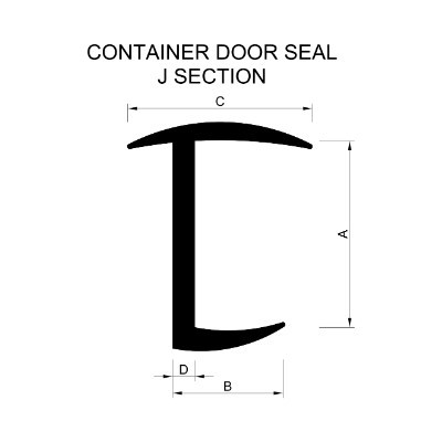 Container Door Seal J Section Extrusion