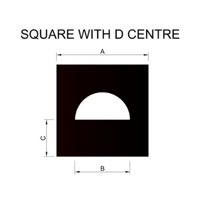 Square with Round D Centre